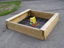 Sandkasten Bär 150x150cm aus 6x16cm Bohlen, Sandkiste, Sandbox, Spielkasten