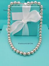 """Genuine Tiffany & Co City HardWear Bead Ball Silver Necklace 18"""" Great Condition"""