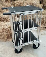 "Titan Double Decker SMALL Aluminium Dog Show Trolley with 8"" All Terrain Wheels"
