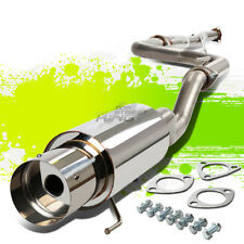 "STAINLESS 4.5"" TIP CAT CATBACK RACE EXHAUST FOR 92-00 HONDA CIVIC DX LX EX EG EK"