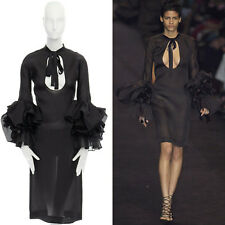 1f45f0a3b1c new YVES SAINT LAURENT TOM FORD Runway AW02 black bell sleeve dress FR36  US4 S