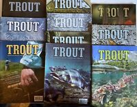 Rate Trout Fishing Magazine Lot Of 10 2011 - 2015 Fish Angler Man Cave Lures Ads