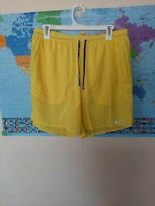 Mens Nike Flex Stride Brief Running Shorts Yellow Size Large L CJ5459-731