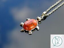 Red Jasper Turtle Natural Gemstone Pendant Necklace 50cm Healing Stone Chakra