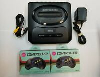 Sega Genesis 2 Edition Black Console - 2 Controllers - TESTED - DISCOUNTED