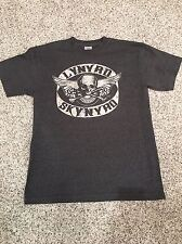 Lynyrd Skynyrd Concert Gray Med T-shirt Music Skull Motor Cycle Band Rock #381