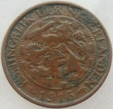 1916 NETHERLANDS ONE CENT