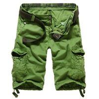1X(Hommes Coton D'éTé ArméE Combat Camo Travail Cargo Shorts Pantalons Pant Z3Y8