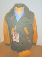 PRPS Goods & Company Cotton Leather Double Breasted Coat Jacket NWT Medium $795