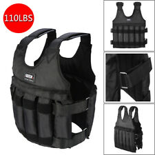 110LB Weighted Vest Adjustable Weight Training Exercise Boxing Jacket Clothing