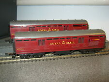 2 Triang OO Gauge BR Maroon Royal Mail TPO Coaches