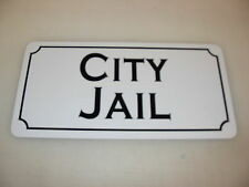 CITY JAIL Metal Sign 4 Costume Cosplay Girls Clubware S&M Prop