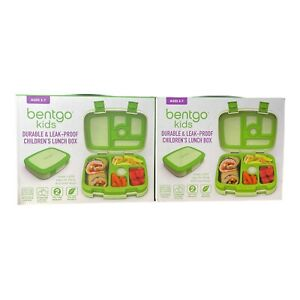 Bentgo Kids Childrens Lunch Box Durable, Leak-Proof, On-the-Go Meal - (2 Total)