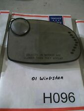 03 Ford Windstar R Heated Side Mirror Integral Signal GLASS ONLY TESTED #H096+