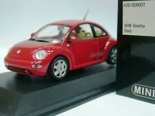 WOW EXTREMELY RARE VW New Beetle 2.0 Hatchback 1998 Red 1:43 Minichamps-GTi/R32