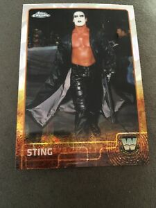 Sting WCW Topps Chrome Refractors Wrestling Trading Card   WCW # 89