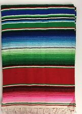 LARGE Mexican Sarape Saltillo Serapes Blanket Bed Cover 5' x 7' RED