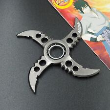 Anime Naruto Asuma Logo Hand Spinner Alloy Shuriken Rotatable Cosplay Darts Toy