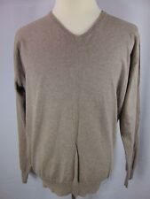 J Crew Men's L - LS - V Neck Pullover Casual Knit Sweater Shirt Cotton Cashmere