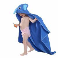 Kids Towel Toddler 100% Cotton Bathrobe Baby Spring Animal Hooded Bath Towels