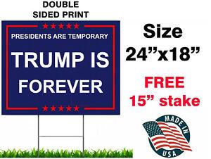 "Trump keep America great 24""X18"" yard sign  FOREVER TRUMP"
