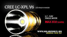 Solarforce 1 Mode Cree XP-L V6 830 Lumen Led Bulb 2.7V - 9V for Surefire 6P G2