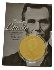 American Civil War President Abraham Lincoln Gettysburg Coin New Carded