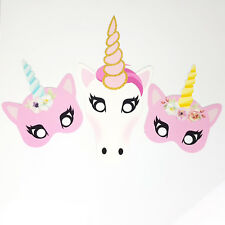 30Pcs Photo Booth Photobooth Birthday FAVORITE Unicorn Pink Props Party DIY Mask
