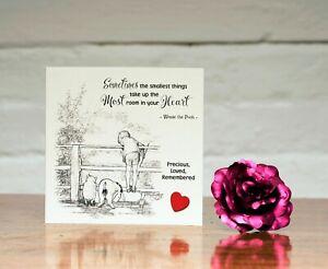 Winnie the Pooh Baby Sympathy Card Loss Miscarriage Stillborn Bereavement