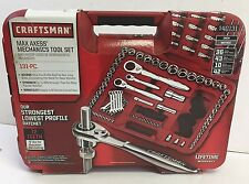 New Craftsman Max Axess 131 piece Mechanics Tool Set with Case-Standard Metric S