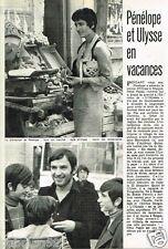 Coupure de Presse Clipping 1974 (1 page) Inès Papas et Bekim Fehmiu