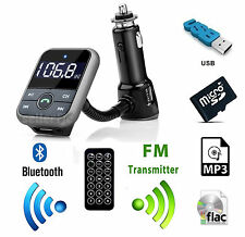 Bluetooth Wireless Car AUX Stereo Audio Receiver FM SD MP3 Adapter USB Charger