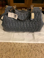 NWT $698 Coach Carrie Gathered Twisted Leather Kisslock Bag Limited Edition