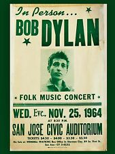 "Bob Dylan San Jose 16"" x 12"" Photo Repro Concert Poster"