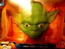Star Wars Yoda Face 3D Deco Light LED + 3D Wall Crack Sticker for Kid Room Light