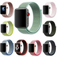 Sport Loop Band Nylon Strap For Apple Watch Series 5 4 3 2 1 42mm 38mm 44mm 40mm