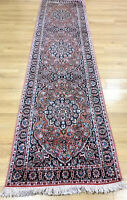 Oriental Persian Hand Knotted Silk Rug Carpet Hall Hallway Runner 300x 80 cm Ma