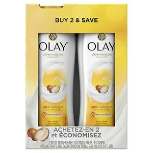 Olay Ultra Moisture Body Wash with Shea Butter 16oz Pack of 2