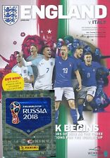 ENGLAND v Italy (Friendly Match) 2018 - includes FREE Panini stickers pack
