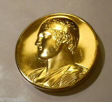 GREECE The Charioteer of Delphi FRENCH GILT BRONZE MEDAL MUSEUM
