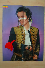 ADAM ANT autographe signed 40x51 cm Poster Plié