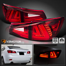 For Lexus 2006-2008 IS250 IS350 Red Tint Lens LED Rear Tail Brake Lights Pair