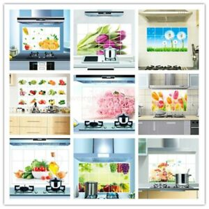Home Decor Kitchen Waterproof Bathroom DIY Wall Sticker Oil Proof Foil 45*75cm