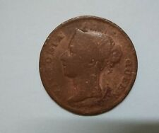 Malaya Straits Settlements India 1862 Queen Victoria One Cent Old Coin