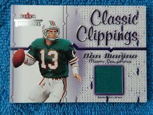 "Dan Marino 2002 Fleer Throwbacks ""Classical Clippings"" Game-Worn Jersey Card"
