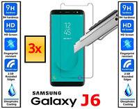 3x Genuine 100% TEMPERED GLASS HD Screen Protector Samsung Galaxy J6