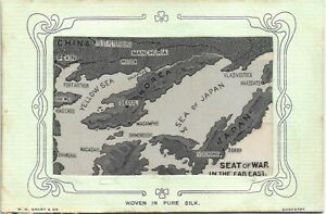 Woven Silk. Seat of War in the Far East by Grant. China, Korea & Japan.