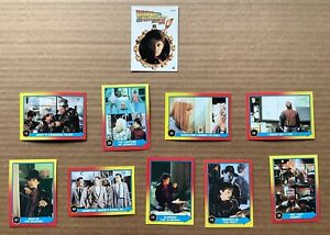 BACK TO THE FUTURE II TRADING CARDS (1989) Topps; Random Lot of 9 + 1 Sticker