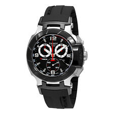 T0484172705700 Tissot  T-RACE Men's Chronograph Black Rubber Strap Watch Swiss