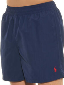 "Polo Ralph Lauren Full Elastic Waist 5¾"" Hawaiian Swim Boxer -Navy Blue- XXL"